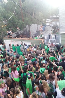 PARTY TOO HARDY:  In March 2015, a St. Patrick's Day house party ended in a roof collapse and multiple injuries. The SLO Police Department proposed increasing the fines for party-related violations between March 1 and March 17, which the SLO City Council rejected on Jan. 17. - FILE PHOTO