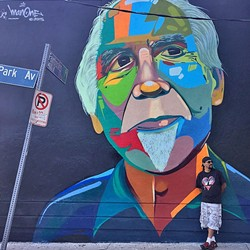 STREET ART :  In addition to painting outdoor murals in urban spaces, artist Man One also paints live at concerts and has even led workshops abroad to help foster self-esteem and respect in young artists. - PHOTO COURTESY OF MAN ONE