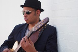 MAGIC MAN:  Blind one-man-band Raul Midón will bring his amazing musicianship and incredible voice to SLO Brew on Sept. 3 as well as KCBX for an on-air performance and interview. - PHOTO COURTESY OF RAUL MIDÓN