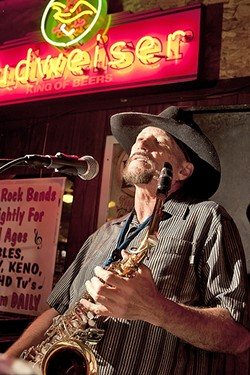 THE MUSIC NEVER STOPS:  Prolific performer John Wessel releases a new CD and plays seven shows this month starting Jan. 13, at A-Town's Tent City. - FILE PHOTO BY STEVE E. MILLER