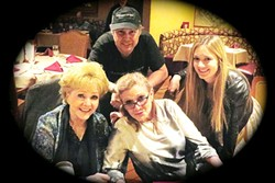BEHIND THE SCENES:  Todd Fisher is pictured here with mom Debbie Reynolds, sister Carrie Fisher, and niece Billie Lourd. Todd's documentary about his famous family, 'Bright Lights,' debuted on HBO in January. - PHOTO COURTESY OF TODD FISHER