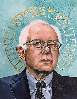 THE SAINTS ARE COMING:  Rather than focus on the negative this election season, Lena Rushing decided to saint her heroes Bernie Sanders, Jane Goodall, and Neil deGrasse Tyson. - IMAGE COURTESY OF LENA RUSHING