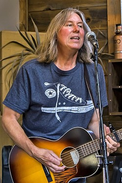 LOCAL LEGEND:  Tim Jackson delivers his 10th album, Gasoline and Guitar Strings, during two album release shows: Oct. 7 at Paso's Chatteau Lettau and Oct. 28 at SLO's Band the Drum. - PHOTO BY CARL ADAMS