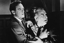 CUTTHROAT:  When industrial engineer and new executive Fred Staples (Van Haflin, left) discovers he's being groomed for aging executive Bill Briggs' (Ed Begley) job, his ambition and morals conflict. - PHOTO COURTESY OF UNITED ARTISTS