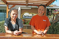 SISTER ACT:  From left, 2nd Street Cafe co-owners and sisters Doi and Noi Klinpratoom are a seasoned pair who serve up fresh seafood, soups, and salads with a side of small-town charm. - PHOTO BY HAYLEY THOMAS