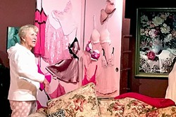 LINGERIE SPEAKEASY:  Grandma and small business owner Sylvia (Barbara McKee) has, um, delicate inventory hidden in every nook and cranny of her New York City apartment. - PHOTO COURTESY OF PEWTER PLOUGH PLAYHOUSE