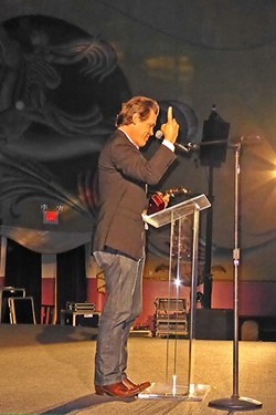 HOME TOWN BOY:  During his SLO-IFF King Vidor Award acceptance speech, Josh Brolin waxes poetic about living in the North County. - PHOTO BY GLEN STARKEY