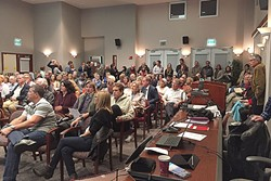 TRICKY POLICY:  Community members packed Paso Robles City Hall for a workshop in 2015 discussing new regulations for the vacation rental industry. The Planning Commission will review a draft short-term rental ordinance this month that sets rules and parameters. - PHOTO COURTESY OF THE CITY OF PASO ROBLES