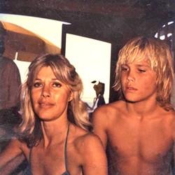 RANCH DAYS:  Josh Brolin with his mom, Jane Cameron Agee. - PHOTO COURTESY OF JOSH BROLIN