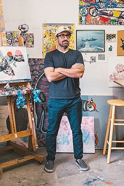 ARTIST AT WORK :  Artist Bret Brown divides his time between working on art and in the field of psychology. - PHOTO COURTESY OF BRET BROWN