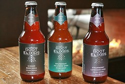 SODAS WITH SPIRIT:  Take your pick: Root Elixirs' ginger, strawberry lavender, or jalapeño grapefruit—then add spirits and ice for an easy cocktail that's all craft, no compromises. - PHOTO BY HAYLEY THOMAS CAIN