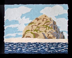 THE ROCK:  Pieces like 'Morro Rock,' can take paper cutting-artist Ryan Carroll anywhere from 10 to 50 hours to complete. - IMAGE COURTESY OF GALLERY AT MARINA SQUARE