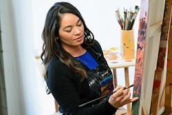 LOVE AT FIRST SIGHT:  Artist Erin Hanson first came to Paso Robles on a Valentine's Day trip about six years ago and instantly fell in love with local landscape. - PHOTO COURTESY OF ERIN HANSON