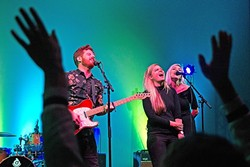THE BIG WINNERS! :  Fialta lit up the crowd at the New Times Music Awards, Nov. 11, in the Fremont Theater, where they took home a slew of awards, including Best Album, Best Songwriter, Best Live Performance, and the Readers' Choice Award among others. - PHOTO BY JAYSON MELLOM