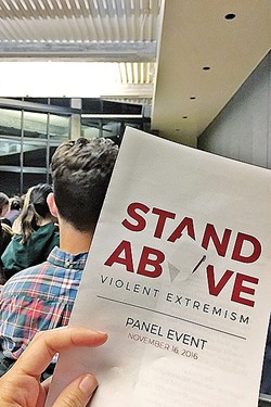DISCUSSION:  Cal Poly students created a campaign that talks about the impact of violent extremism in the Muslim community. - PHOTO BY KAREN GARCIA
