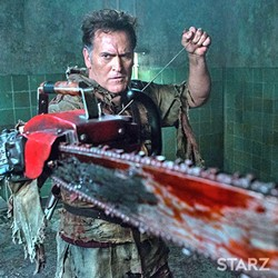 GROOVY:  Bruce Campbell is back as Ash Williams in Starz 'Ash vs. Evil Dead.' - PHOTO COURTESY OF STARZ