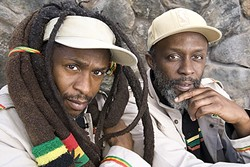 """MESSENGERS:  Lead singer, guitarist, and songwriter David """"Dread"""" Hinds (left), keyboardist Selwyn """"Bumbo"""" Brown (right), and their band Steel Pulse bring their socially conscious message to Fremont Theater on Feb.11. - PHOTO COURTESY OF STEEL PULSE"""