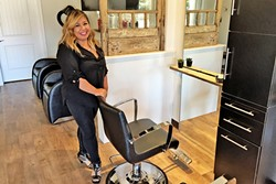 FASHION FORWARD:  Leila Vea Lewis arrived from the ultra-chic world of hair fashion in New York City to start LVL Salon in Nipomo. - PHOTO BY DAVID MINSKY