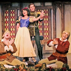 SINGING SNOW WHITE:  The Great American Melodrama cast shines with comedy and musical prowess in the 'Snow White and the Four (Don't Ask) Dwarves,' an operetta lampooning the classic Disney tale. - PHOTO COURTESY OF THE GREAT AMERICAN MELODRAMA