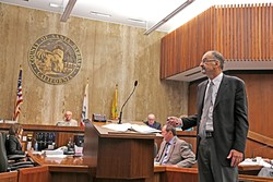 LANDOWNERS' ATTORNEY:  Ernest Conant is a Bakersfield-based attorney who's leading the charge for the proposed Cuyama Basin Water District comprised of landowners who will be most affected by recent California laws in groundwater management. - PHOTO BY DYLAN HONEA-BAUMANN