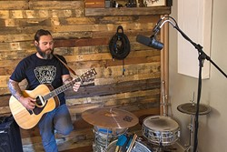 CREATION JUNKIE :  Jon Bartel of the rock band American Dirt and the country act The Creston Line treats his home recording studio as therapy. - PHOTO BY JAYSON MELLOM