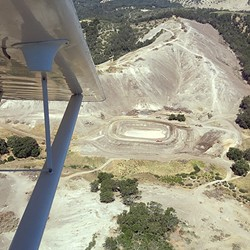 DEVASTATED:  Aerial photos of Justin Vineyards and Winery's clear-cutting of oak woodlands in June drew public outrage. The county recently released a draft of a permanent ordinance focusing on oak tree clear-cutting. - FILE PHOTO COURTESY OF MATT TREVISAN