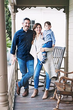 MEET THE HERD:  Larder Meat Co. Owners Jensen and Grace Lorenzen with their 3-year-old son, August. The San Luis Obispo couple is on a mission to bring local meats—chicken, beef, and pork—to your doorstep every month with two sizes of Larder Meat Co. boxes to choose from. - PHOTO COURTESY OF JEN OLSON