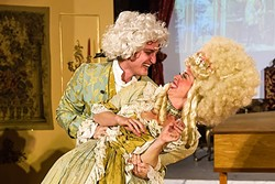 PASSION :  Mozart (left, Ayrton Parham) makes the rash decision to marry his love Constanze (Sabrina Pratt) without getting his father's permission. - PHOTO BY JAYSON MELLOM