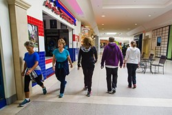 THE MALL WALKERS:  While the Santa Maria Town Center includes several indoor exercise opportunities, like different gyms, many locals—including senior citizens—walk the mall's interior halls for activity. - PHOTO BY JAYSON MELLOM