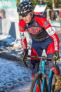 CRAZY FOR CYCLOCROSS:  Lance Haidet's love for cycling began at a young age, first in San Luis Obispo, then in Bend, Ore. He's now a professional cyclist in cyclocross, where racers compete on dirt courses in often adverse weather conditions. - PHOTO COURTESY OF MEG MCMAHON