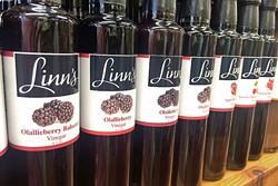 OLALLIBERRY HEAVEN:  Linn's Fruit Bin Farmstore in Cambria carries homemade oils, vinegars, preserves, and pie! - PHOTO BY CAMILLIA LANHAM