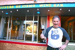 HIS NAME IS PUFFER:  Charlie Puffer opened Puffer's of Pismo Wine Bar last year with the idea of bringing some funk, adventure, and local flavor to a longstanding neighborhood watering hole. - PHOTO BY HAYLEY THOMAS CAIN