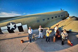 COME FLY WITH THEM:  Café Musique will bring their diverse mix of Gypsy jazz, swing, folk, and wild classical to Cambria's Pewter Plough Playhouse for two intimate shows on Jan. 7 and 8. - PHOTO COURTESY OF CAFÉ MUSIQUE