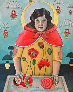 """LIKE AN ONION:  The series of nesting dolls show """"different sections of the same person,"""" says artist Lena Rushing. - IMAGE COURTESY OF LENA RUSHING"""