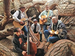 OLD PROS, NEW BAND:  Wood, featuring members of Twinkie Defense from 30 years ago, releases their exquisite debut studio album on May 19, at D'Anbino's in Paso, followed on May 20 with an outdoor concert at Sea Pines Golf Resort in Los Osos. - PHOTO COURTESY OF WOOD