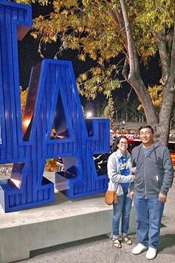 FAMILY :  While I will be a forever Dodgers fan, my dad is firmly behind the St. Louis Cardinals. - PHOTO COURTESY OF KAREN GARCIA