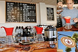 CRAFT BUZZ :  Pour over coffee isn't a common sell in Grover Beach, but thanks to Red Bee Coffee, you can now enjoy an expertly brewed cup just a few blocks from the beach. - PHOTOS BY HAYLEY THOMAS CAIN