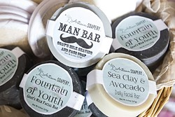 SPECIALTY SOAPS:  Worried about wrinkles, oily skin, or beard maintenance? There's a bar of soap for that at Artisan Soapery in Morro Bay. - PHOTO BY JAYSON MELLOM