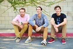 UP AND COMERS:  Up! Way Up!, a trio of Cal Poly seniors playing '60s-style rock, ska, and reggae, play Frog and Peach on April 11. - PHOTO COURTESY OF UP! WAY UP!