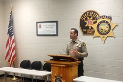 ANOTHER DEATH:  Sheriff Ian Parkinson (pictured) adressed concerns over deaths in the county jail at an April 13 news conference. - PHOTO BY CHRIS MCGUINNESS