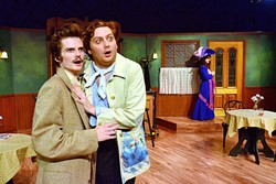 TALENT:  Back in 2014, PCPA alumni Cameron Rose and Toby Tropper starred as Albert Einstein and Pablo Picasso in the theater's production of 'Picasso at the Lapin Agile.' They were the first guest actors to be paid in the theater's history. - PHOTO COURTESY OF SLO REPERTORY THEATRE