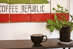 A BEE GETS ITS WINGS:  Red Bee Coffee, Grover Beach's first third-wave coffee shop, exclusively pours SoCal Klatch coffee, which is both accessible and artful. - PHOTO BY HAYLEY THOMAS CAIN