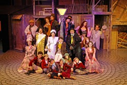 CROOKED CHARACTERS Take a trip back to Victorian England, made real by the SLO Repertory's charming, complex, and downright vile characters in the production of Oliver! Starting with the first row, from left to right: Sarah Raines, Drew Vander Weele, Serafina Regusci, Oliver Baker, Kyan Vander Weele, Molly Himelblau, Mia Beck, and Micaela Morgan. Second row: Seth Blackburn, Jacqueline Hildebrand, David Kirkland, Dana Shaheen, Elliot Peters, and Greg DeMartini. Third row: Christian Clarno, Megan C.C. Walker, Delaney Brumme, Phineas Peters, and Felicia Hall. - PHOTO COURTESY OF DANIELLE DUTRO MCNAMARA PHOTOGRAPHY