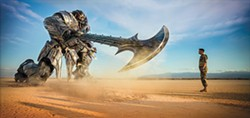 US AGAINST THE WORLD In Transformers: The Last Knight, Optimus Prime is gone and the remaining Transformers must work together to save the world even as humans turn against them. - PHOTO COURTESY OF PARAMOUNT PICTURES