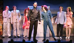 SING, SING A SONG Oceano's Great American Melodrama's new production, The Karaoke Kid, is a mash-up of the best of cheesy 1980s cinema and over-the-top pop music, inspired by the 1984 hit film The Karate Kid. - PHOTO COURTESY OF GREAT AMERICAN MELODRAMA