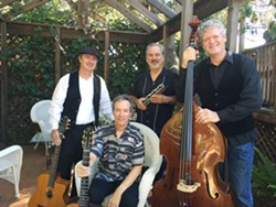 GYPSY JAZZERNAUTS Santa Barbara's The Idiomatiques play the next Red Barn Community Music Series concert on July 1, in Los Osos' Red Barn. - PHOTO COURTESY OF THE IDIOMATIQUES