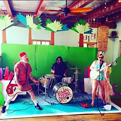 DIVE IN! Hayley and the Crushers bring their surf rock to Sally Loo's during the second annual Summer Crash Pool Party, with a pool-centric set design by Neal Breton. - PHOTO COURTESY OF HAYLEY AND THE CRUSHERS