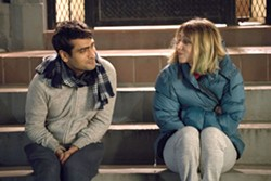 ROMANCE IS IN THE AIR Kumail (Kumail Nanjiani) and Emily (Zoe Kazan) begin a relationship troubled by his Pakistani ethnicity. - PHOTO COURTESY OF APATOW PRODUCTIONS