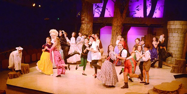 ONCE UPON A TIME Into The Woods Jr. ties together favorite characters from classic fairy tales into a lovely musical package. - PHOTO COURTESY OF JAMIE FOSTER PHOTOGRAPHY