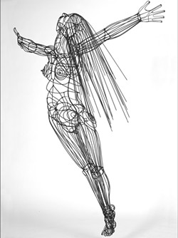 MOVING TO THE MUSIC A woman is caught mid flight in artist Michael Reddell's sculptural piece, Flying Figure.  - IMAGE COURTESY OF MICHAEL REDDELL